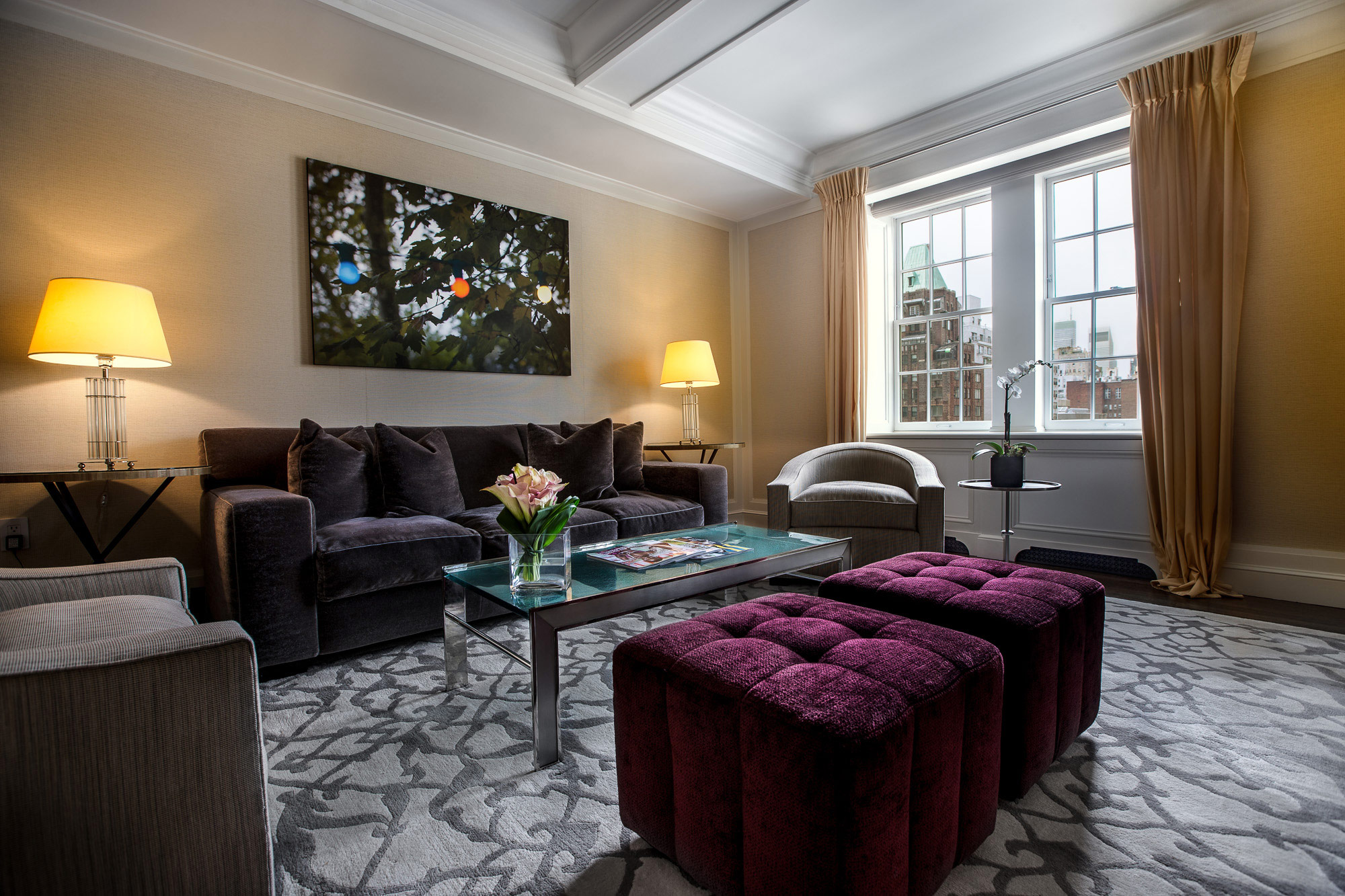The mark one bedroom luxury hotel suite the mark hotel for Sitting room suites