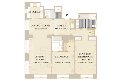 2 bedroom hotel suites. Detailed Features Mark Premier Two Bedroom Suite